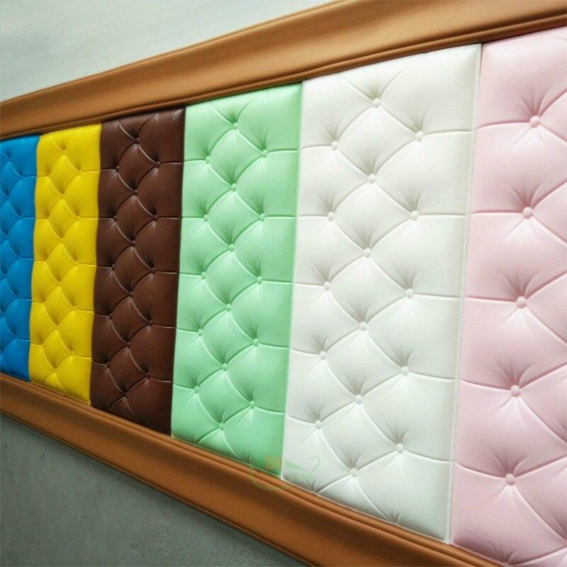 3d autocollants muraux stéréo papier peint auto-adhésif chambre chevet imperméable mousse Anti-collision dos coussin Tv fond mur