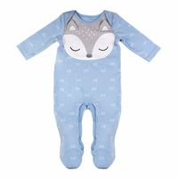 Cuikevin Fashion Baby Boy Newborn Clothes Infant Girl Jumpsuit Toddler Baby Rompers Long Sleeve Fox Cartoon