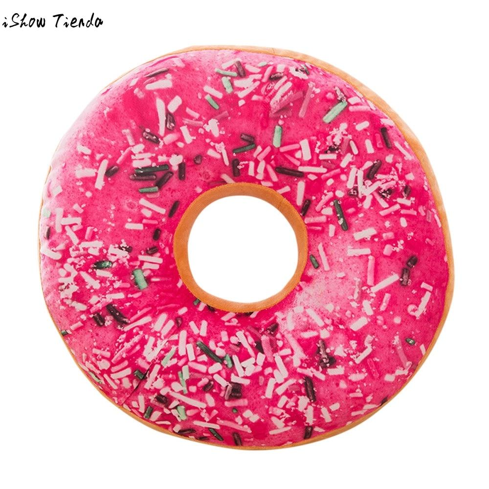 fashion Pillow Stuffed Seat Pad Sweet Donut Foods Case Toys pillowcase drop shipping