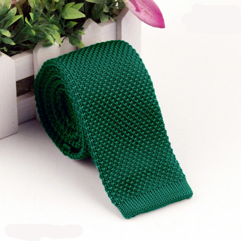 SHENNAIWEI mens ties 2016 knitting school Green knit tie slim knitted ties fashion KNIT 5.5 cm