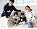 Primavera / outono família conjunto de hoodies com chapéu de pano de algodão quente para mãe / filha de pai / filho camisola 2 cores
