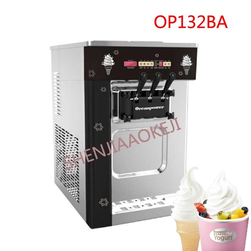 2*6.5L Soft ice cream machine OP132BA Desktop stainless steel frozen ice cream maker 220V ice cream machine 1pc