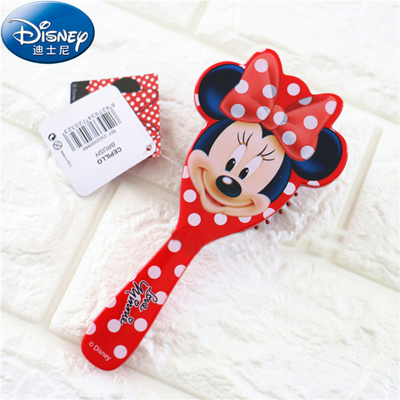 Disney 2018 Salon Frozen Kids Gentle Anti-static Brush Tangle Mermaid Bristles Handle Tangle Comb Curly Hair Brush Combs DD004