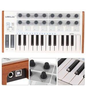 Image 5 - Worlde Mini controlador de batería y teclado, portátil, profesional, 25 teclas, USB, MIDI
