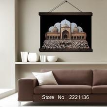 Дверь Поклонения Исламу HD Печать Прокрутки Картины Wall Art Печатных Висит Подставил Холст  Лучший!