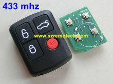 Free Shipping 5pcs/lot Remote 4 Button Keyless Entry Fob 433 mhz Fit For Ford BA BF SX SY Territory Falcon