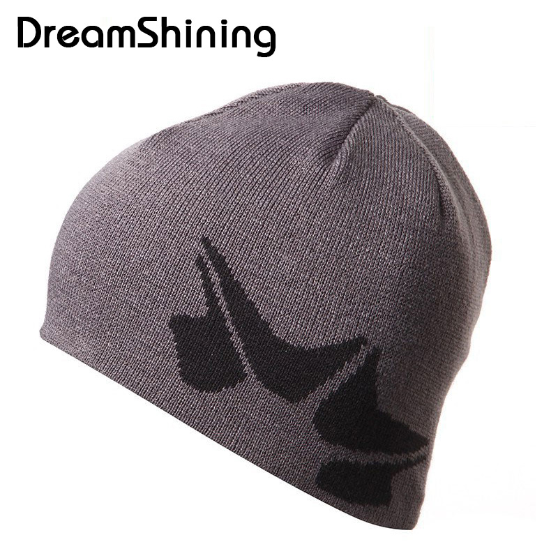 DreamShining Men Cool Skullies & Beanies Knitted Beanie Women Women'S Autumn Hats Gorros E Toucas Winter Hat For Women skullies