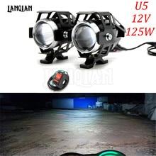 Универсальный 12 V мотоцикл металлический светодио дный фар вождения месте головы противотуманных фар для Бенелли TNT300 TNT600 TNT 899 1130 300 600