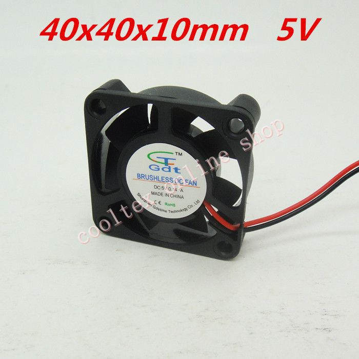 3pcs/lot 40x40x10mm 4010 fans 5 Volt Brushless DC Fans for heatsink cooler cooling radiator 120x120x25mm 12025 fans 12 volt 2pin brushless 12cm dc fans chassis fan cooler cooling radiator
