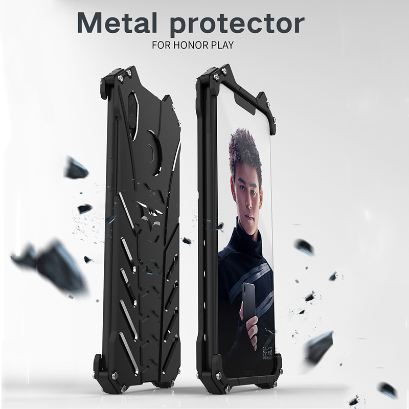 For Huawei Honor Play Case Luxury Anti-knock Armor 360 Full Cover Metal Shockproof Powful Heavy Duty Protection Shell