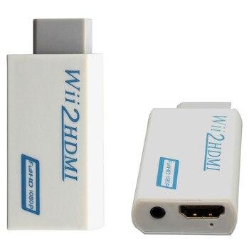 Gran venta para Wii a HDMI Wii2HDMI Adaptador convertidor 3,5mm salida de audio y vídeo Full HD 1080P salida con cable hdmi