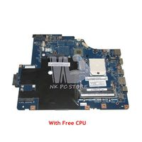 NOKOTION Laptop Motherboard For Lenovo G565 Z565 MAIN BOARD DDR3 LA 5754P 11S69038329 Socket s1 with Free CPU