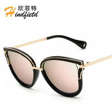 New sunglasses wholesale 2713 fashion Spectacles metal framed sunglasses women cat eye Occhiali con montatura metallica
