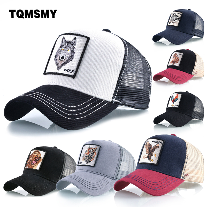 Unisex Hip Hop   cap   embroidery animal   Baseball     Caps   men Breathable Mesh Snapback   cap   sun hats for women Cotton visor bone