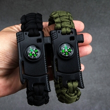 Outdoor Umbrella Bracelet Knife Multi Camping Emergency Survival Tools Men Women Braided Adventures Rescue Rope Bangles Compass