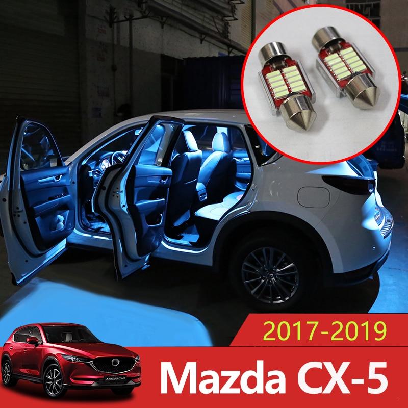 5pcs Error Free Auto LED Bulbs Car Interior Lighting Kit White Reading Lamp Indoor Lights For Mazda CX-5 CX5 CX 5 2017 2018 2019
