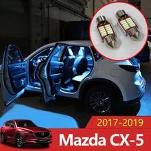 5 pz Error Auto Libero HA CONDOTTO Le Lampadine Auto Interior Lighting Kit Bianco Lampada Da Lettura Interna Lampada Luci Per Mazda CX-5 CX5 CX 5 2017 2018 2019