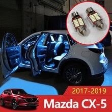 5 шт. ошибок Авто светодио дный светодиодные лампы салона освещение комплект белый лампа для чтения крытый огни Mazda CX-5 CX5 CX 2017 2018 2019