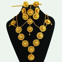 Vintage Ethiopian wedding jewelry sets fashion Gold Filled Jewelry African/Sudan/Nigeria/Kenya bridal jewelry sets