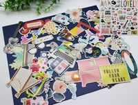72 stücke Japanischen Mädchen/Zug/Gitarre Karton Sterben Schnitte Aufkleber Für DIY Scrapbooking Glücklich Planer/Karte, Der /Journaling Projekt