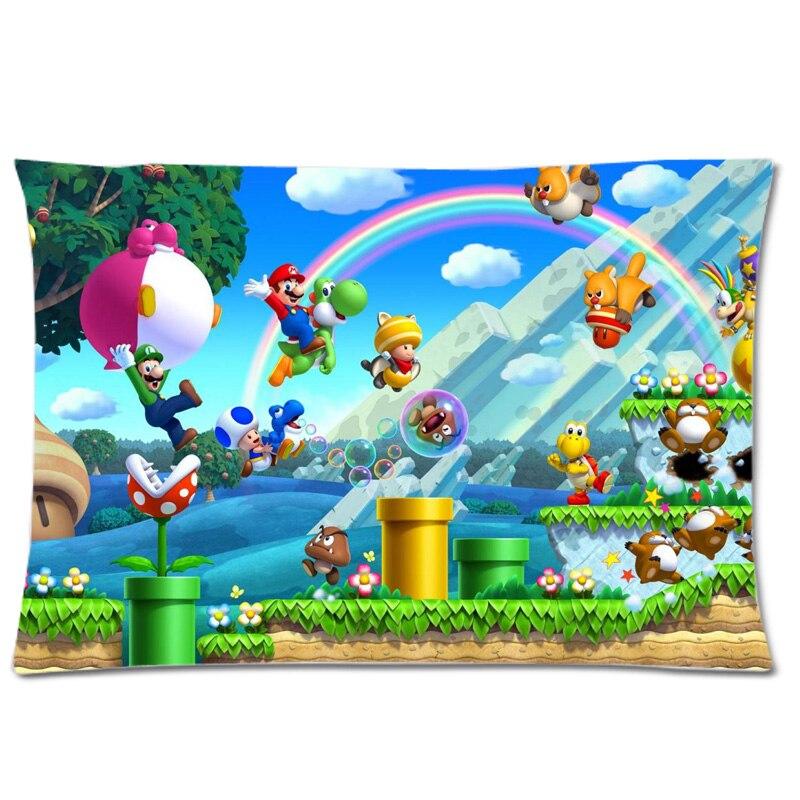 Super Mario Sfondo Solft Federa Cuscino Case Cover Federa Dimensioni 30 X 20 Stampa Su Due Lati Pillow Case Cover Pillow Casesuper Mario Pillowcase Aliexpress