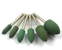24 Piece Set Green Bullet Mounted Rubber Polishing Point Grinding Bit 1 8 Shank