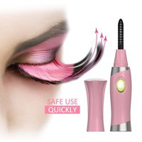 Electric Heated Eyelash Curler With Comb Design, Long Lasting Natural Eye lashes Curling Tool USB Rechargeable Mini Style