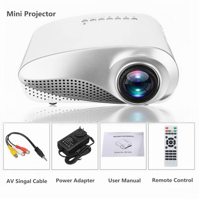 Special Price HDMI 1080P Mini Projector LED Multimedia Home Video Theater USB VGA TV AV
