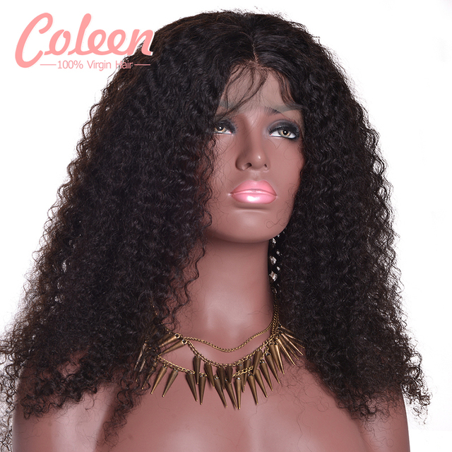 Afro Kinky Curly Wigs Glueless Lace Front Human Hair Wigs Brazilian Kinky Curly Hair Full Lace Human Hair Wigs For Black Women