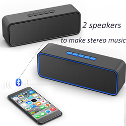 Mini Bluetooth Speaker Portable Wireless Speaker 3D VS anker soundcore 2 Stereo Sound Music Surround Support Bluetooth TF AUX