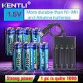 KENTLI 8 шт 1 5 В 3000mWh AA литий-полимерный литий-ионный аккумулятор + 4 слота USB умное зарядное устройство