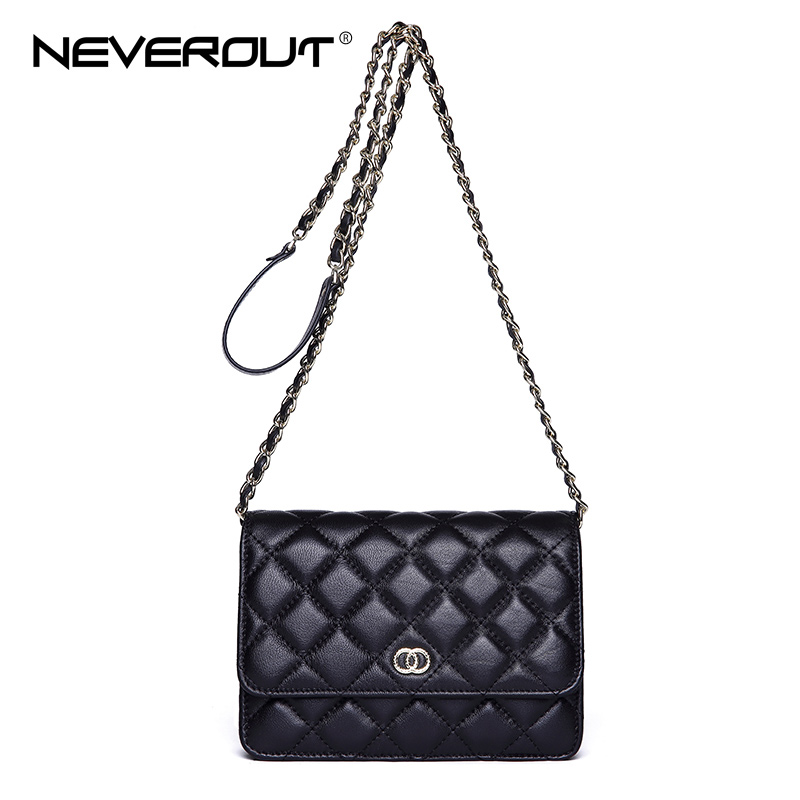 NEVEROUT Sheepskin Small Flap Crossbody Bags 2018 Classic Fashion New Shoulder Bag Women Messenger Bags Luxury Real Leather Bag neverout new crossbody handbag women messenger bag cover small flap bags fashion shoulder bags simply style genuine leather bag