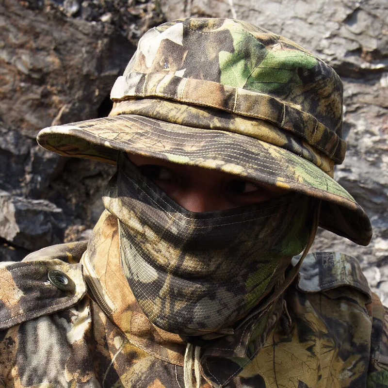 Boonie Hat Military Tactical Army Adjustable Anti-scrape Airsoft Combat Gear Camouflage Multicam Alpie Meadow Terrin Hiking Caps