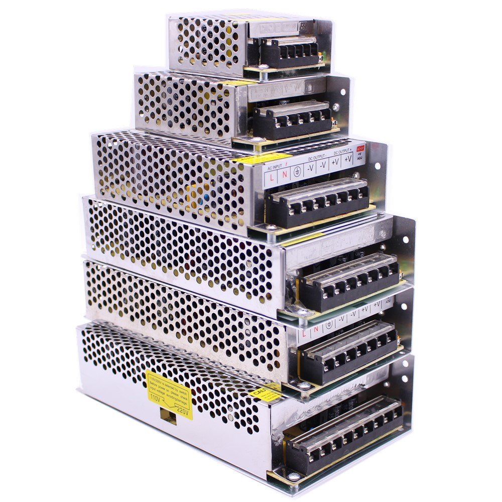 5V/12V24V Lighting Transformer 5A 10A Switching Power Supply 60W 120W 150W 200W 250W 360W LED Driver Adapter for LED Strip Light
