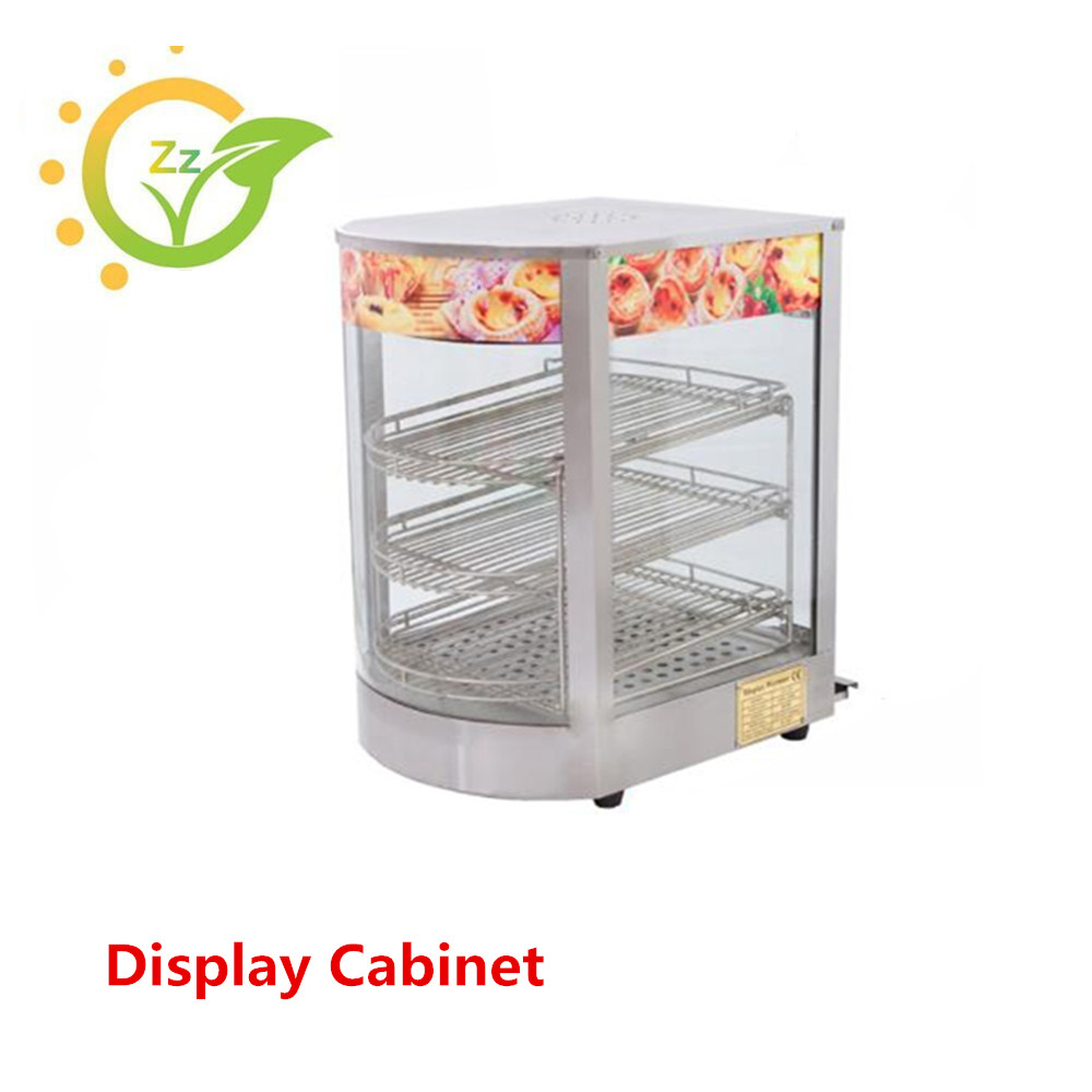 Electric Display Cabinet Stainless Steel Commercial Convenience Stores Mini Hot Display Showcase Warmer Food Steamer
