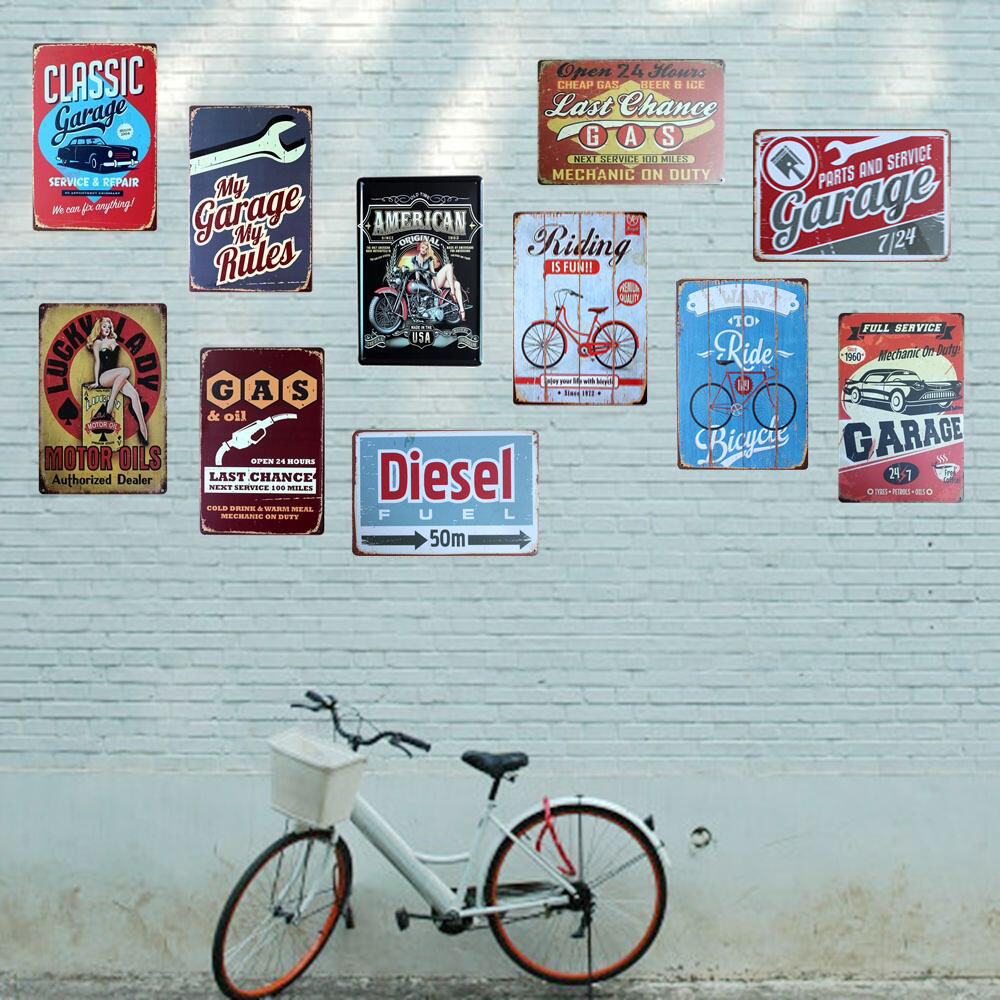[Mike86] Classic Vintage Metal Bil Plakat Retro kunst Maleri Blikkskilt Retro Bar Home Decoration 20X30 CM AA-435