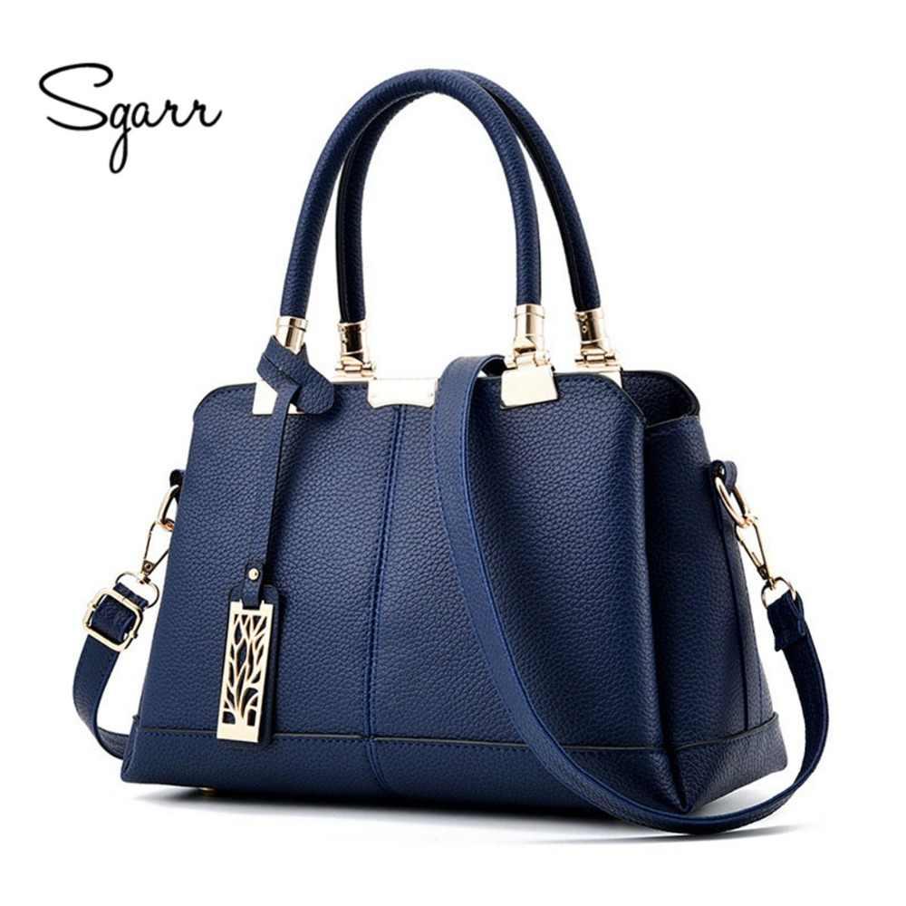 193b101d27d8 SGARR бренд класса люкс для женщин сумки известный дизайнер искусственная  кожа Сумка через плечо 2018 новые
