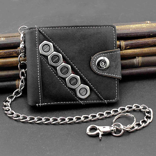 Biker Snap Wallet w/ Chain 1