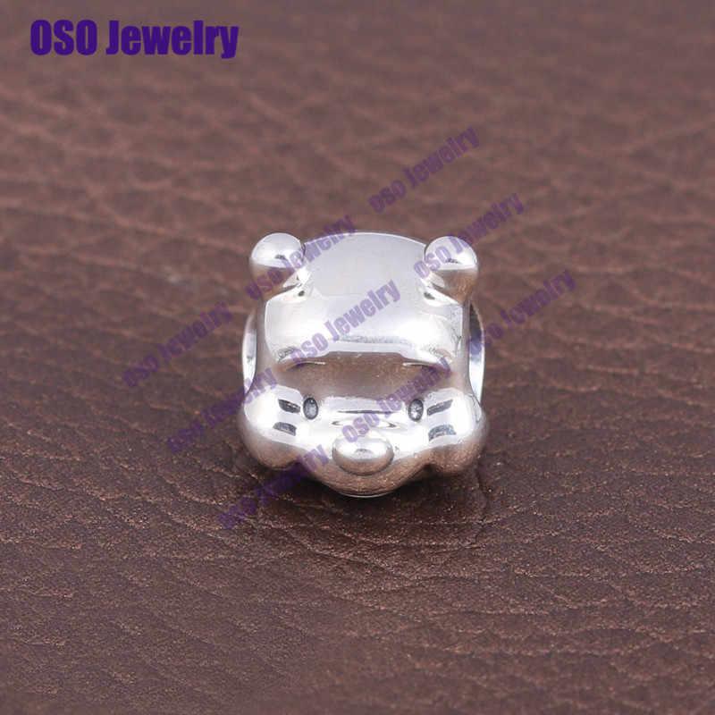 925 стерлингового серебра шармы бусины в форме животных подходят оригинальные