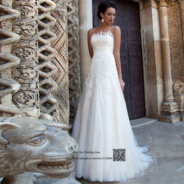 vuelos baratos de china vestidos de civil de la boda una línea de