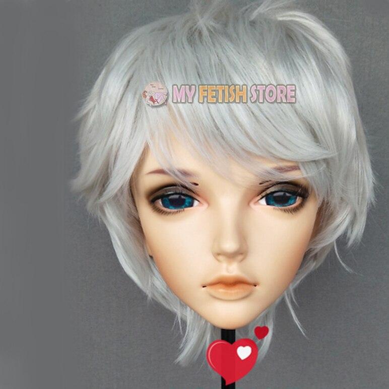 boy Resin Half Head Male/ Man Kigurumi Mask With Bjd Eyes Cosplay Japanese Anime Role Mask Crossdress Doll miu-02 Competent