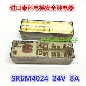 Genuine SR6M4024 24VDC 8A Safety Relay Elevator