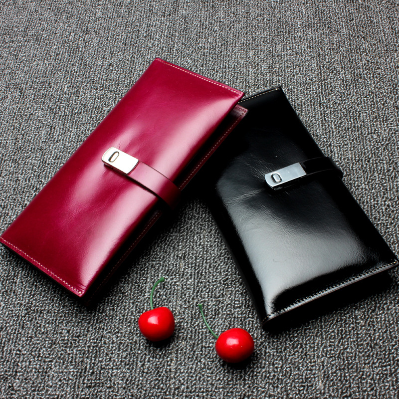 Genuine Cow Leather Women Wallet Female Long Clutch Lady Walet Luxury High Quality Money Bags Magic Zipper Solid Coin Purse karna sheris
