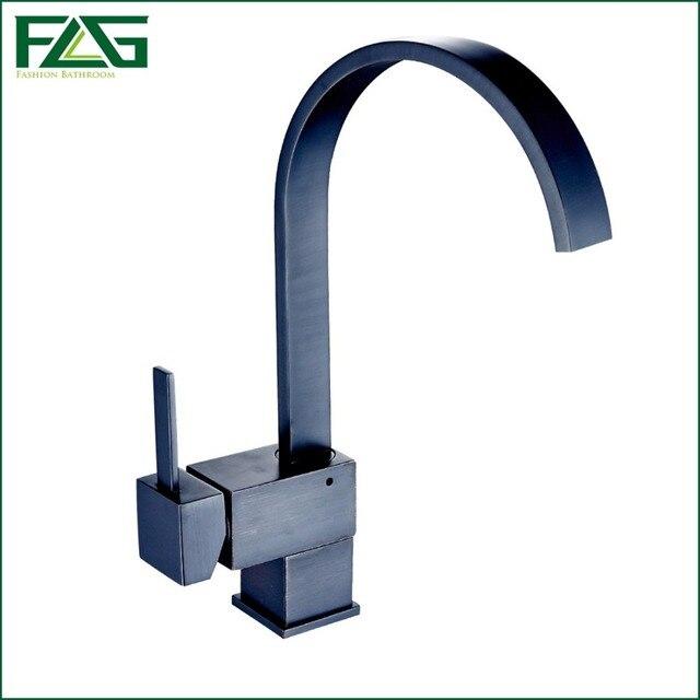 FLG Küchenarmatur Quadrat Wasserfall Öl Eingerieben Bronze ...