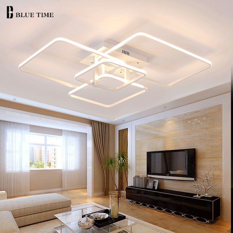Dimming and Remote Modern Ceiling Lights led For Living Room Bedroom White Color Home new ceiling lamp luminaire 4/3arms 110V new modern led ceiling lights for living room bedroom plafon home lighting combination white and black home deco ceiling lamp