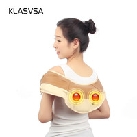 KLASVSA Electric Shoulder Kneading Massager Body Neck Waist Back Vibrate Massage Cervical Health Care Pain Relief