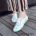Ladies Luxury Brand Designer Pointed Toe Flats Women Casual PU Leather Shoe Loafers Zapatos Mujer Platform Sapato Feminino WC033