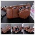 Genuine leather case para samsung galaxy s4 zoom sm-c101 c1010 tampa da lente com tampa da lente (2 em 1) protective case
