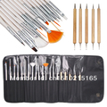 free shipping 20pcs Nail Art Tips Pens Brushes Design Dotting Painting Polish Pen Set Tool Kit