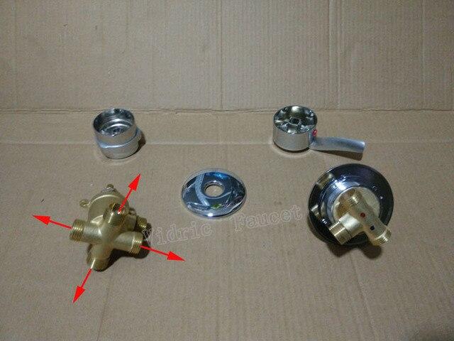 4 ways Screw shower faucet mixer separate, 2/3/4/5 ways bathroom shower faucet set , shower room faucet mixing valve customize